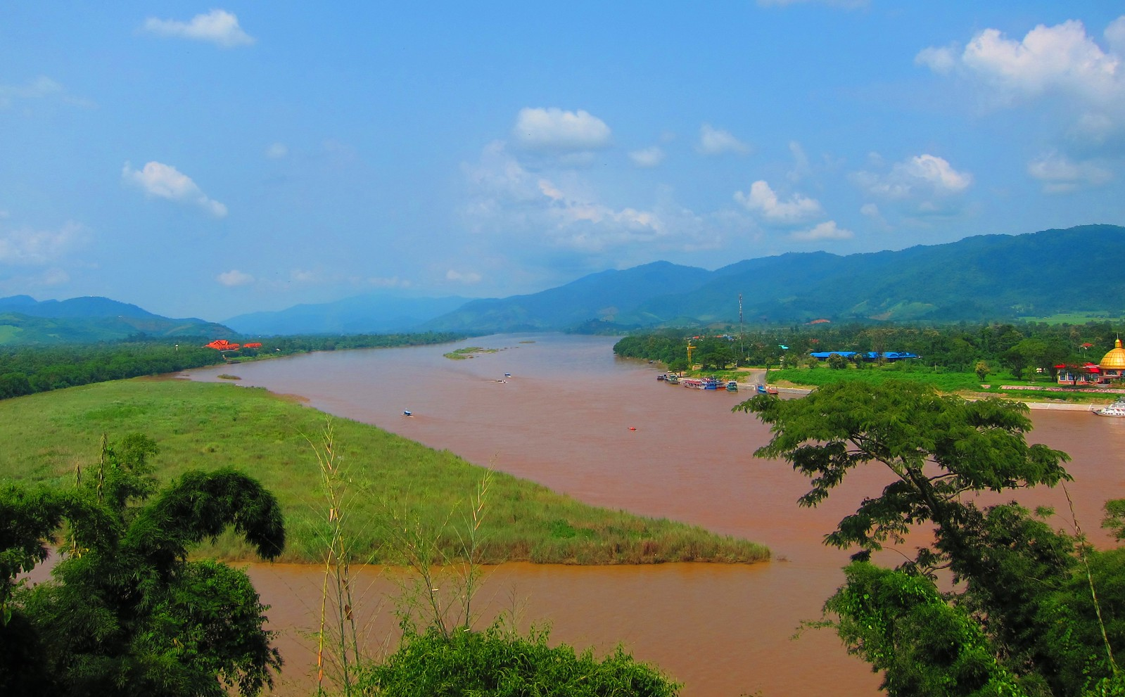 View of Thailand, Myanmar and Laos